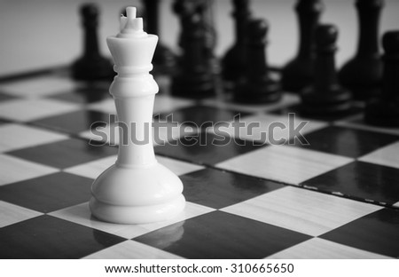 Chess concept of leadership - stock photo
