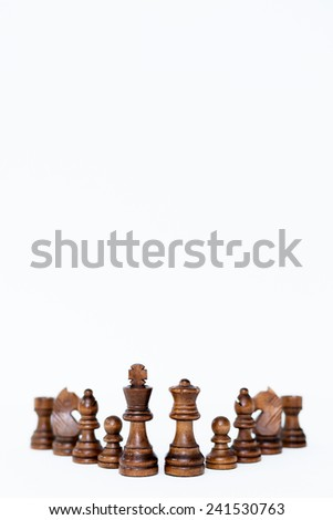 Chess figure isolated on white background