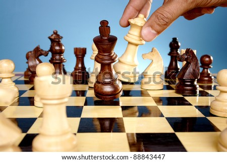 Chess game-Checkmate - stock photo