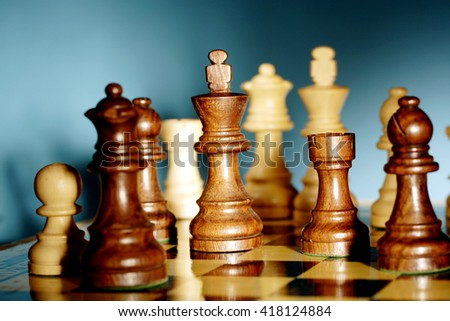 Chess game - Chess king is checkmated - Chess game over