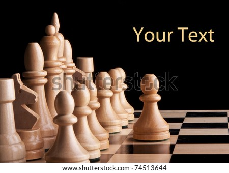 chess game king strategy board battle play - stock photo