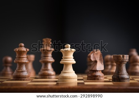 chess game playing - stock photo