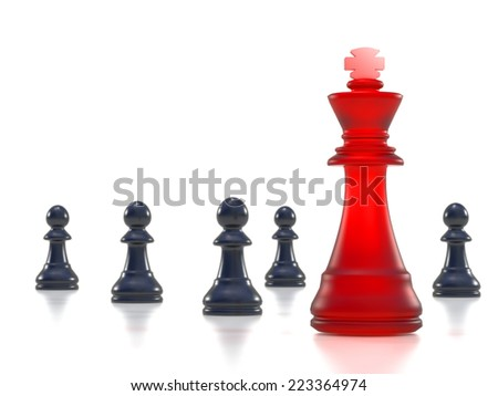 Chess. High resolution. 3D render - stock photo