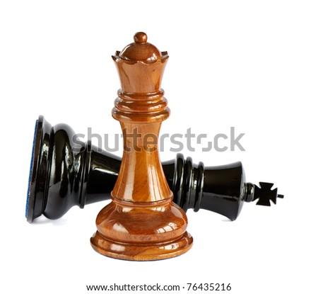 Chess isolated on white background - stock photo