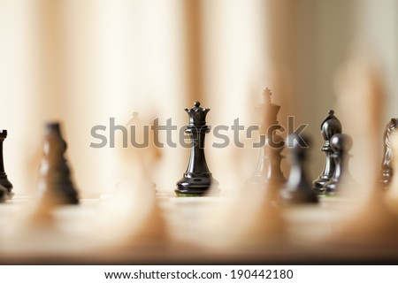 chess king in focus - stock photo