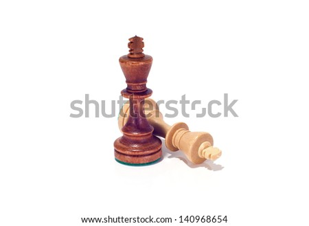 Chess kings isolated on white background - stock photo