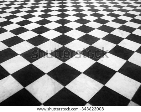 Chess marble floor - stock photo