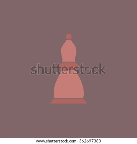 Chess officer. Simple flat color icon on colorful background - stock photo