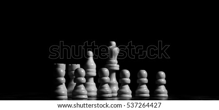 chess on chessboard closeup