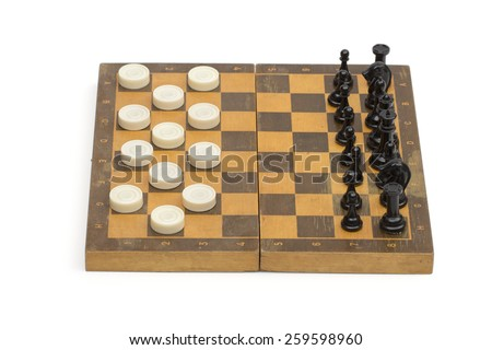 chess on the white background - stock photo