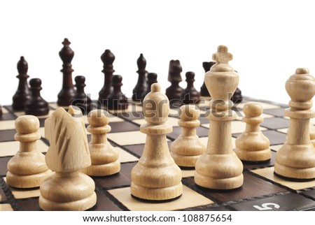 chess on white - stock photo