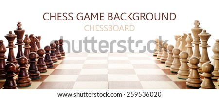 chess on white background - stock photo