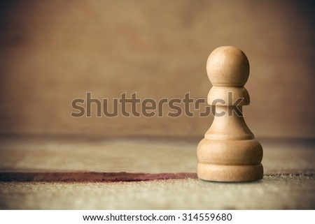 Chess Pawn. - stock photo
