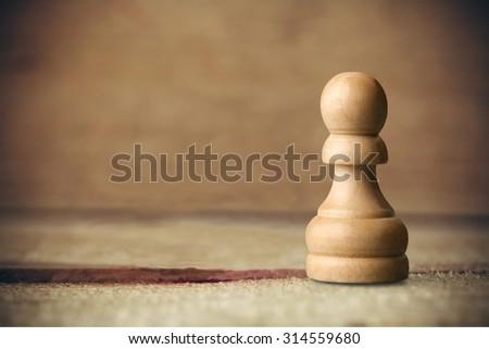 Chess Pawn. - stock photo