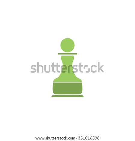 Chess Pawn. Colorful pictogram symbol on white background. Simple icon - stock photo