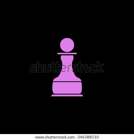 Chess Pawn. Colorful symbol on black background - stock photo