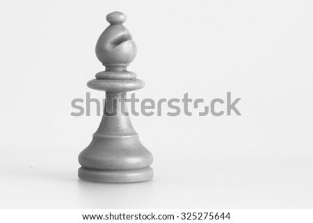 Chess photographed on a light background