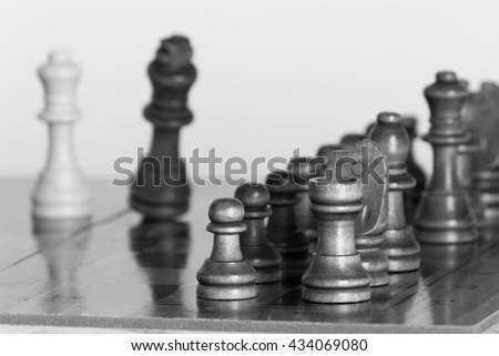 Chess photographed with chessboard