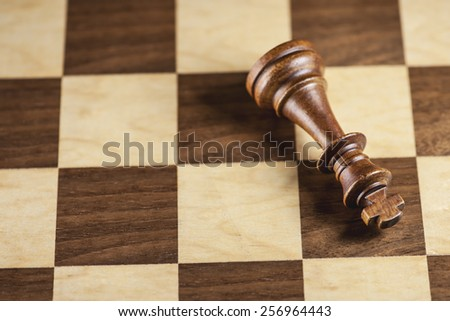 Chess piece and game board background (Shallow Depth-of-Field)