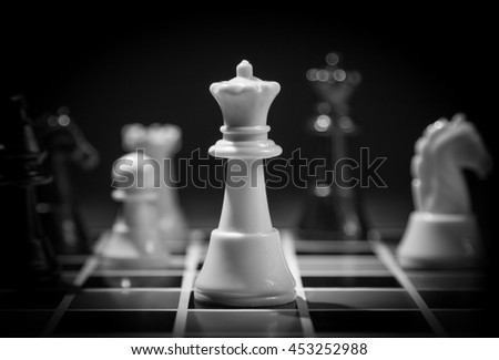 chess piece on the board background