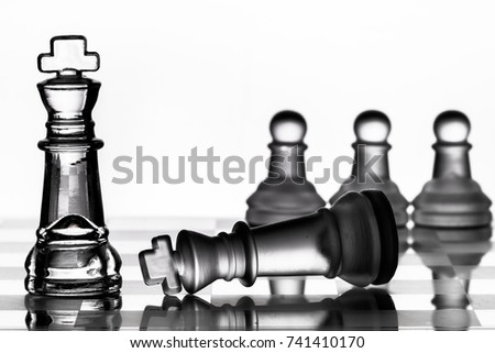 Chess play to represent political or business strategy