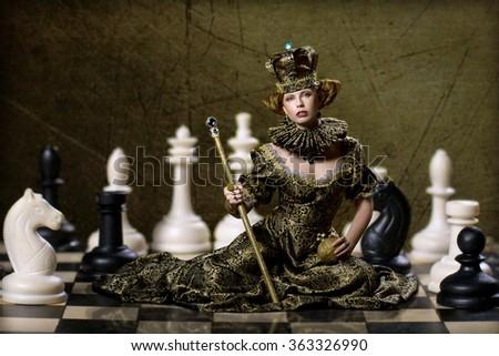 Chess queen - stock photo