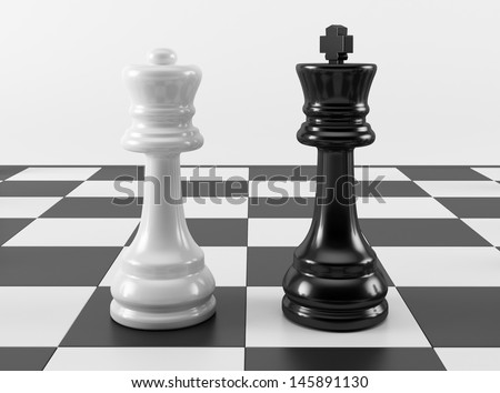 chess how to tell the king queen