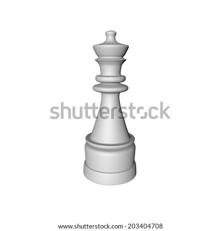 Chess Queen on White