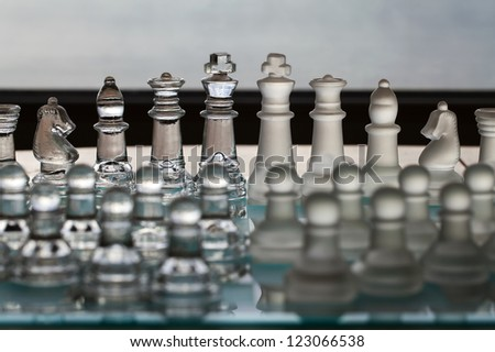 Chess Set - business concept for merger, companies, takeover or amalgamation.  - stock photo