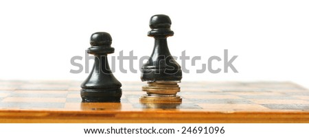 Chess stand on the money