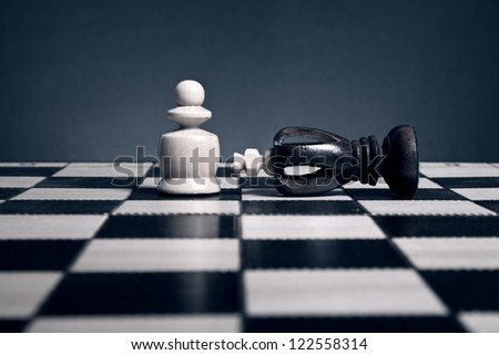 Chess. The victory over the king pawn.