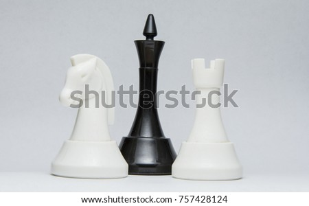 Chess, three figures