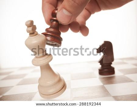 Chess, Winning, Competition. - stock photo