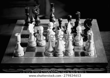 chessboard figure game confrontation