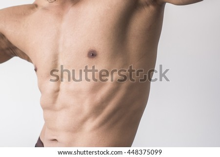 Chest Muscles Shape Man Stock Photo Royalty Free 448375099