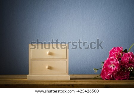 chest of drawer ,wooden office archive filling cabinet. furniture - stock photo