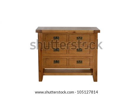 Chest of Drawers isolated with clipping path - stock photo