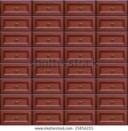 Chest of drawers seamless background - stock photo