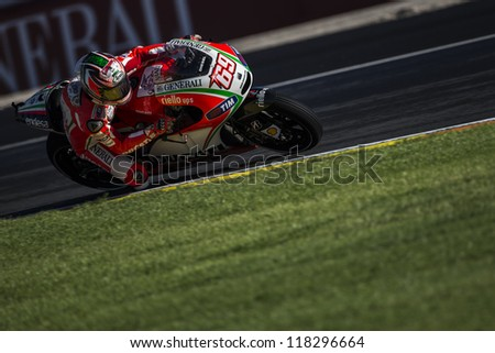 CHESTE - NOVEMBER 10: Nicky Hayden during GP of the Comunitat Valenciana, on November 10, 2012, in Ricardo Tormo Circuit of Cheste, Valencia, Spain