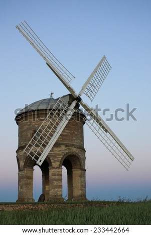 Chesterton windmill under a blue sky