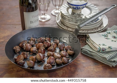 Chestnut from nature to eat - stock photo