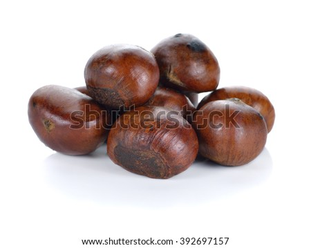 chestnuts isolated on white background