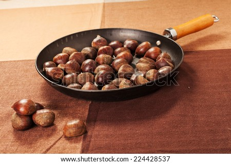Chestnuts on the tablecloth
