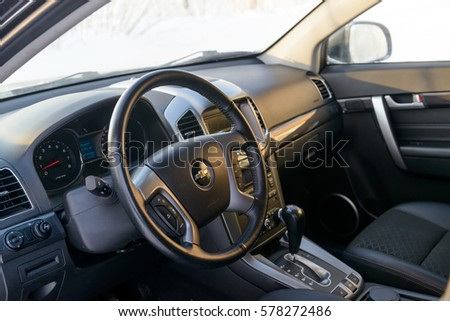 Chevrolet Captiva 2015 Car Interior MOSCOW Stock Photo (Royalty Free ...