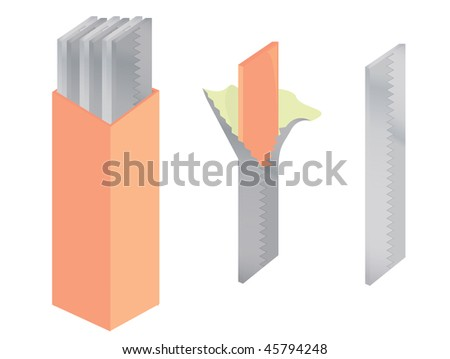 Chewing gum isolated - jpg version - stock photo