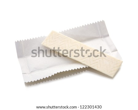 chewing gum plate. Isolated on a white background - stock photo