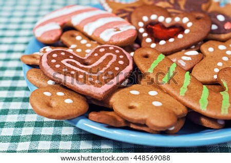 Chewy Gingerbread Cookies with Royal Icing
