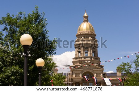 Cheyenne Wyoming Capital City Downtown Capitol Building Legislative Center