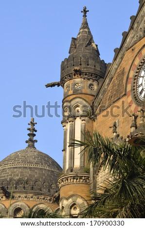 Chhatrapati Shivaji Terminus (Victoria Terminus) of Mumbai - stock photo