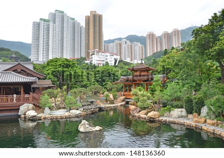Chi Lin Buddhist Temple and Nunnery in Kowloon City, Hong
